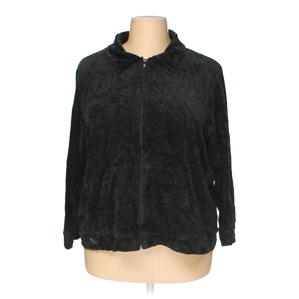 Black Sarah Bentley Jacket In Size 2X At Up To 95% Off