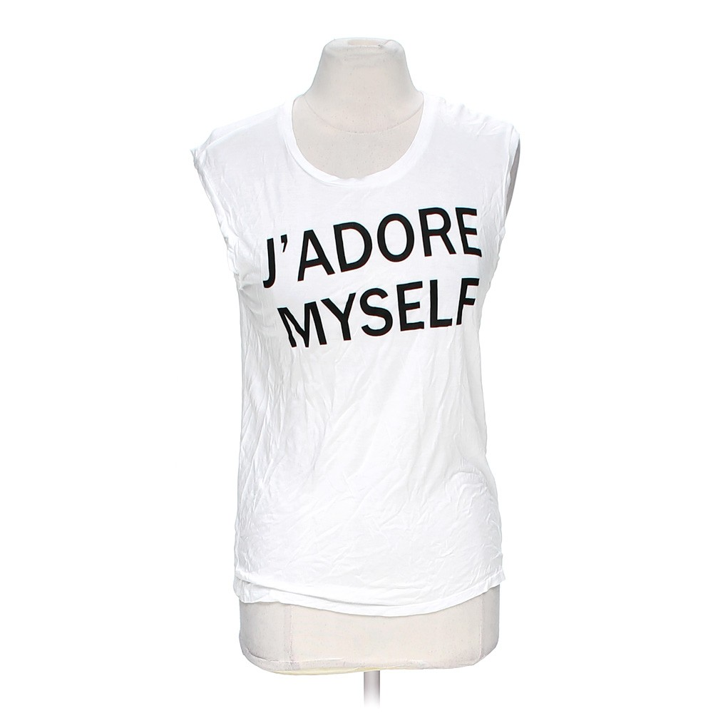 White body central j 39 adore myself shirt in size m at up for How to hand wash white shirt