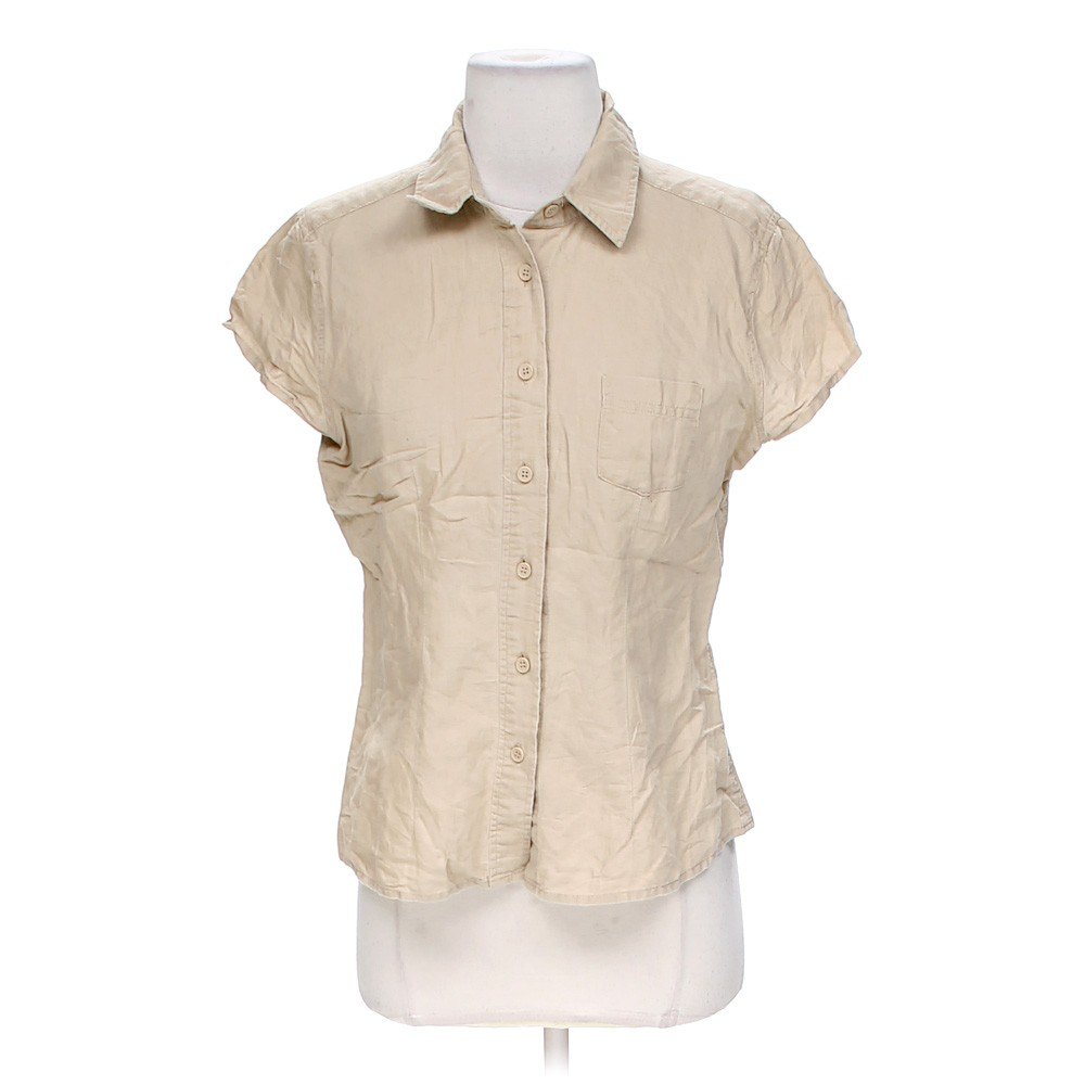 Beige New York Company Khaki Button Up Shirt In Size S