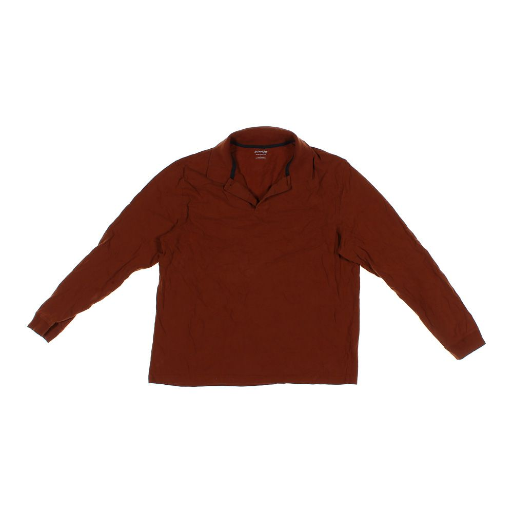 fdde84eeb Brown St. John s Bay Long Sleeve Polo Shirt in size L at up to 95% Off -  Swap.com