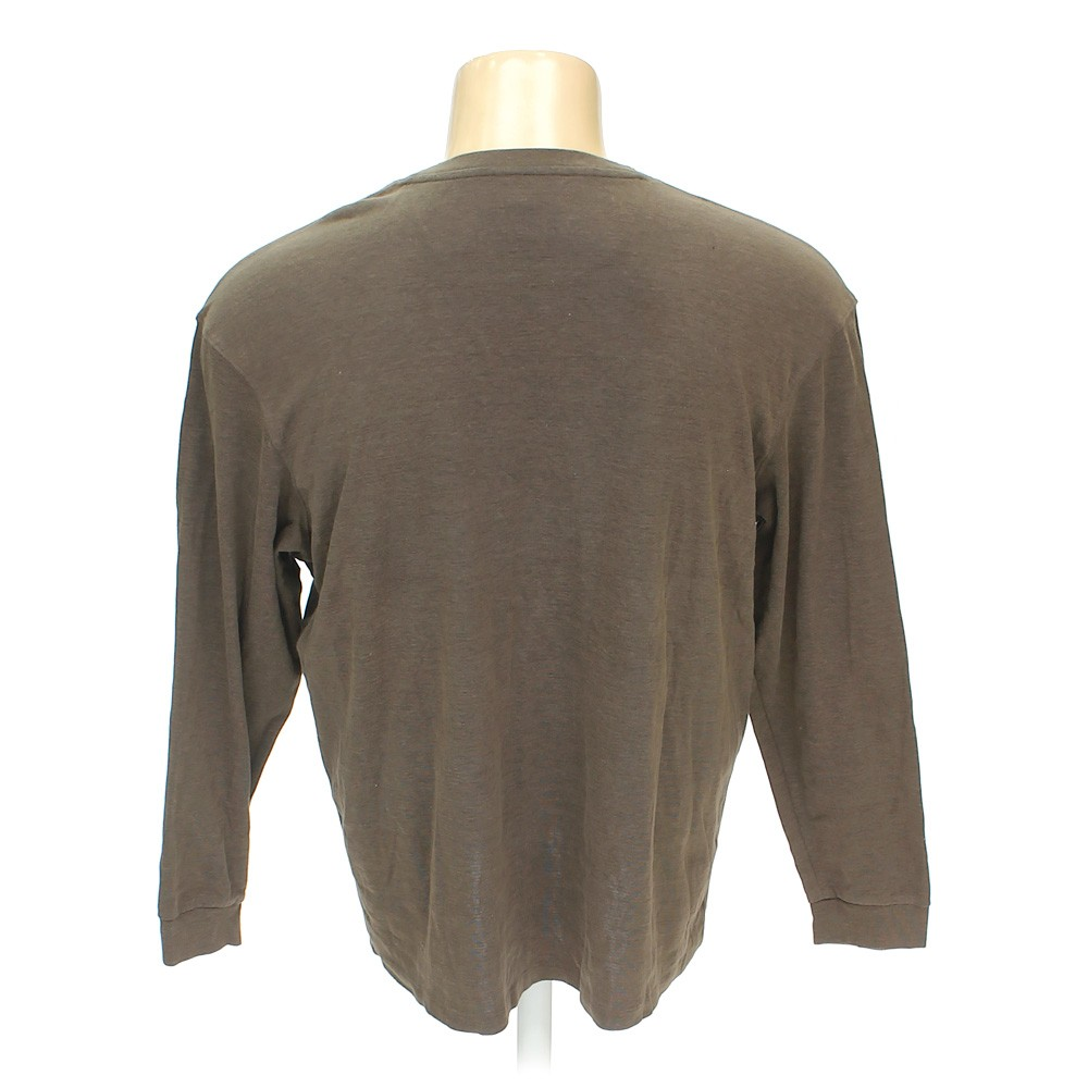 Brown method clothing long sleeve shirt in size xxl at up for Mens xxl tall dress shirts