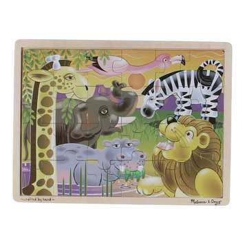 Melissa & Doug African Plains Safari Wooden Jigsaw Puzzle With Storage Tray (24 pcs) Puzzle for Sale on Swap.com