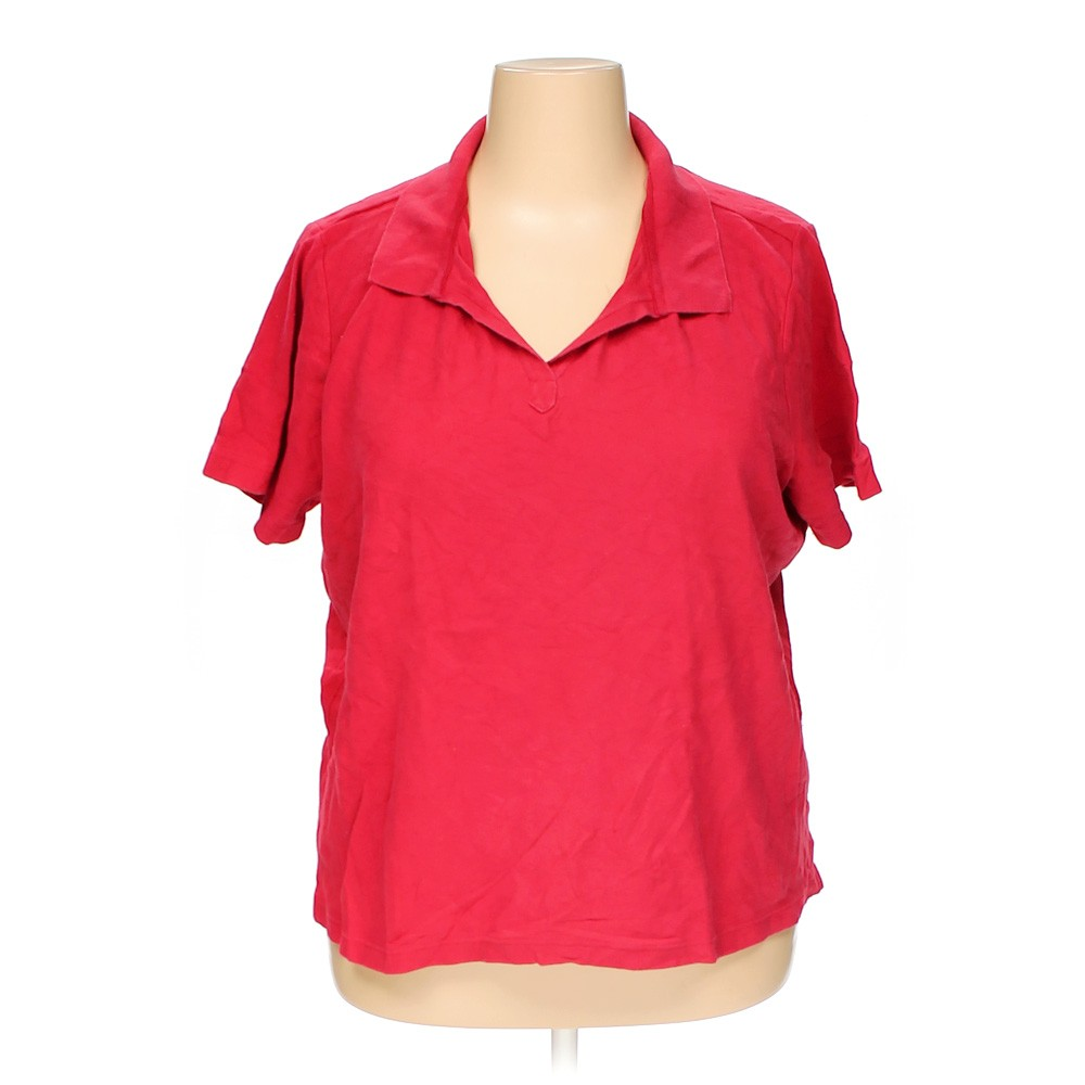 Red cherokee polo shirt in size 3x at up to 95 off for 3x shirts on sale