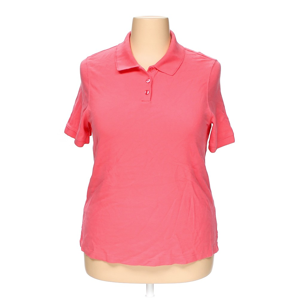 pink croft barrow polo shirt in size 1x at up to 95 off