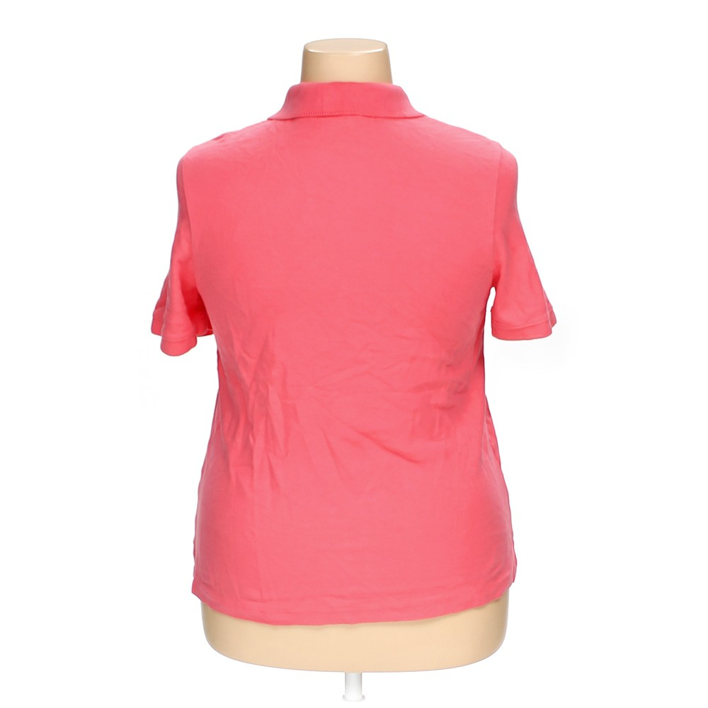Croft barrow cotton polo shirt size 1x pink for Croft and barrow womens polo shirts