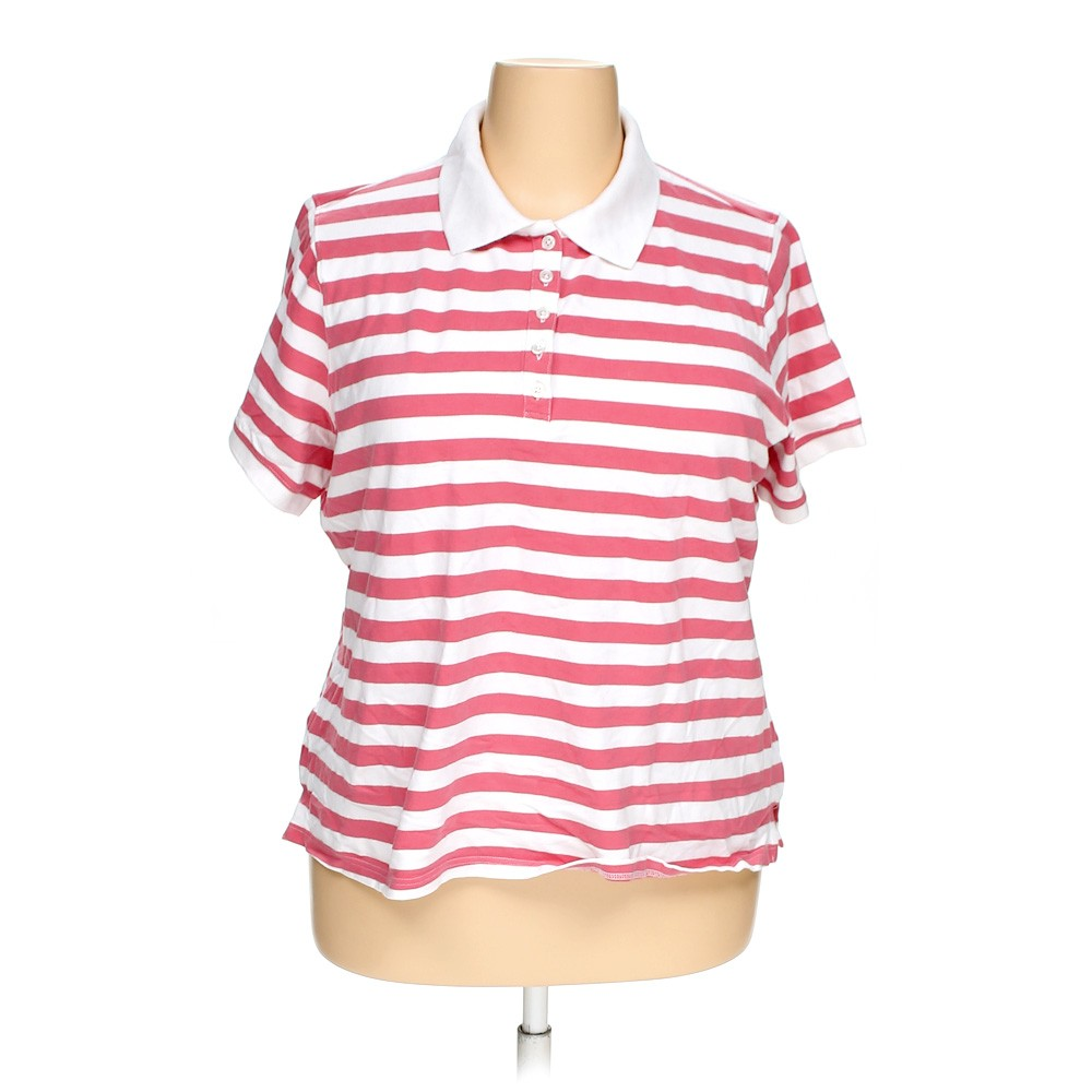 Pink croft barrow polo shirt in size 2x at up to 95 off for Croft and barrow womens polo shirts