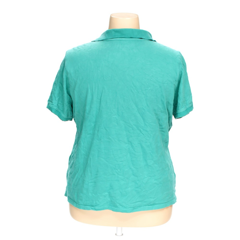 Turquoise croft barrow polo shirt in size 2x at up to 95 for Croft and barrow womens polo shirts