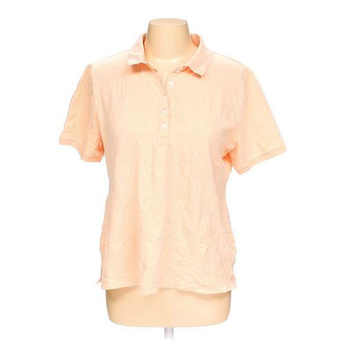 Orange croft barrow polo shirt in size l at up to 95 for Croft and barrow womens polo shirts