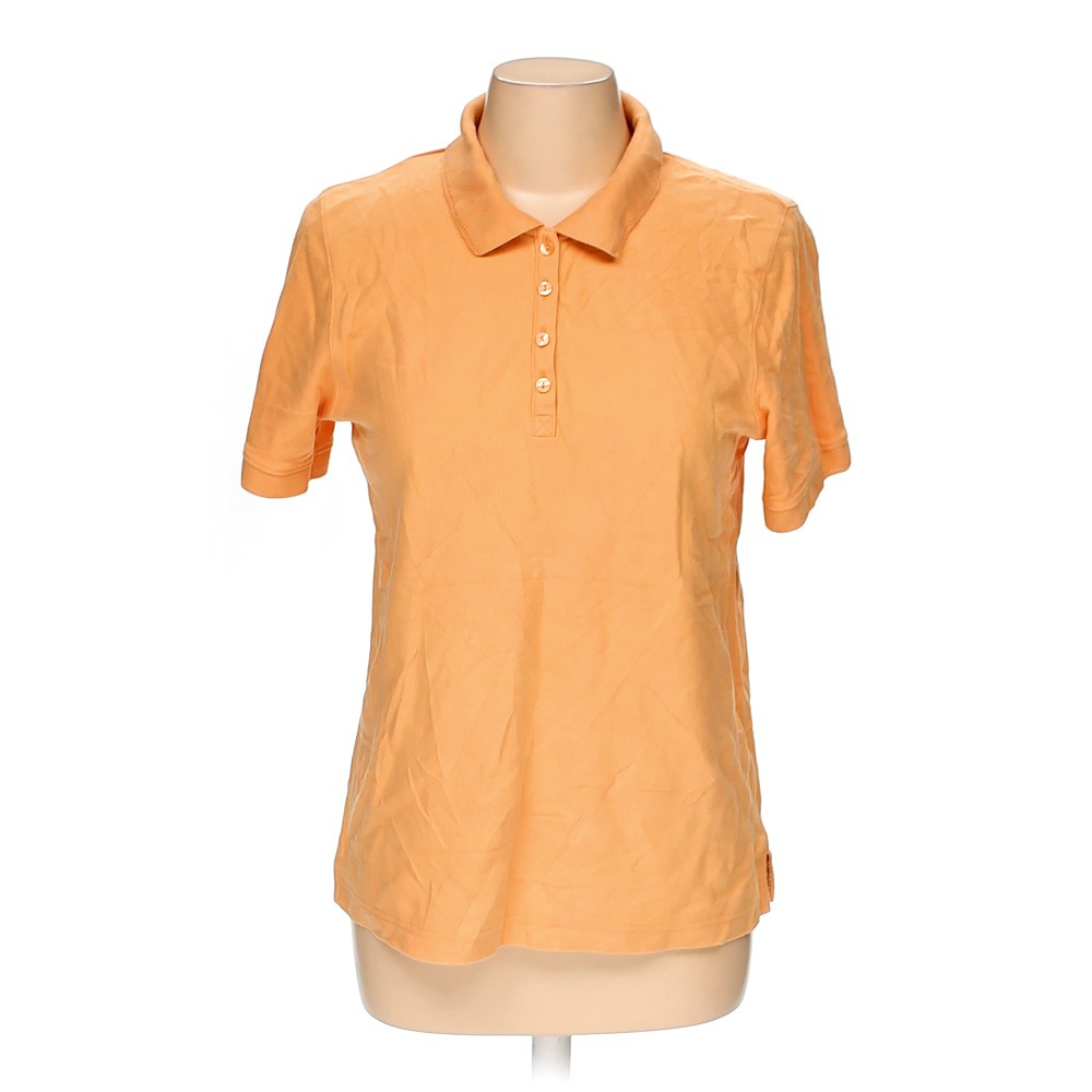 Orange croft barrow polo shirt in size m at up to 95 for Croft and barrow womens polo shirts