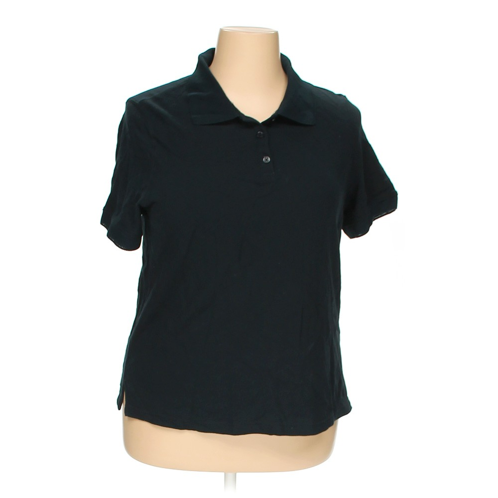 Black croft barrow polo shirt in size 1x at up to 95 for Croft and barrow womens polo shirts