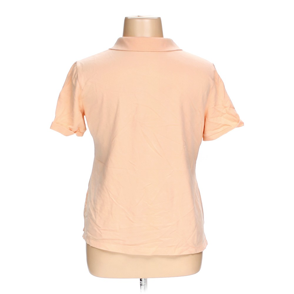 Beige croft barrow polo shirt in size xl at up to 95 for Croft and barrow womens polo shirts