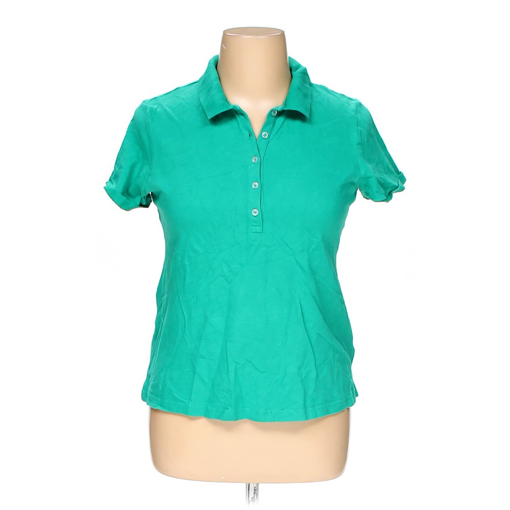 Turquoise croft barrow polo shirt in size xl at up to 95 for Croft and barrow womens polo shirts