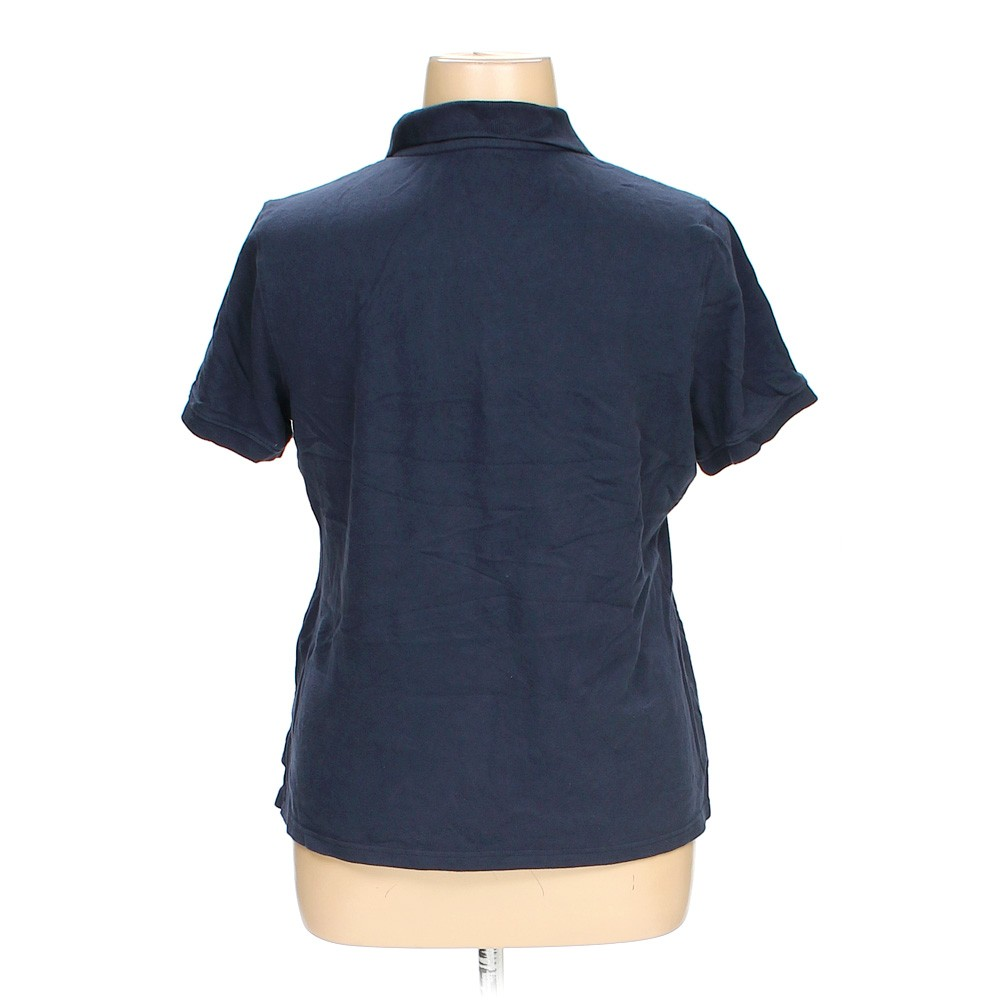 Blue navy croft barrow polo shirt in size xl at up to 95 for Croft and barrow womens polo shirts