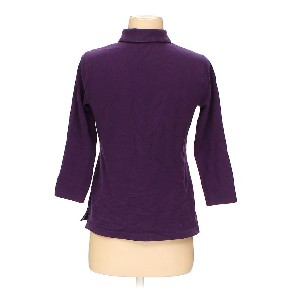 Purple croft barrow polo shirt in size xs at up to 95 for Croft and barrow womens polo shirts