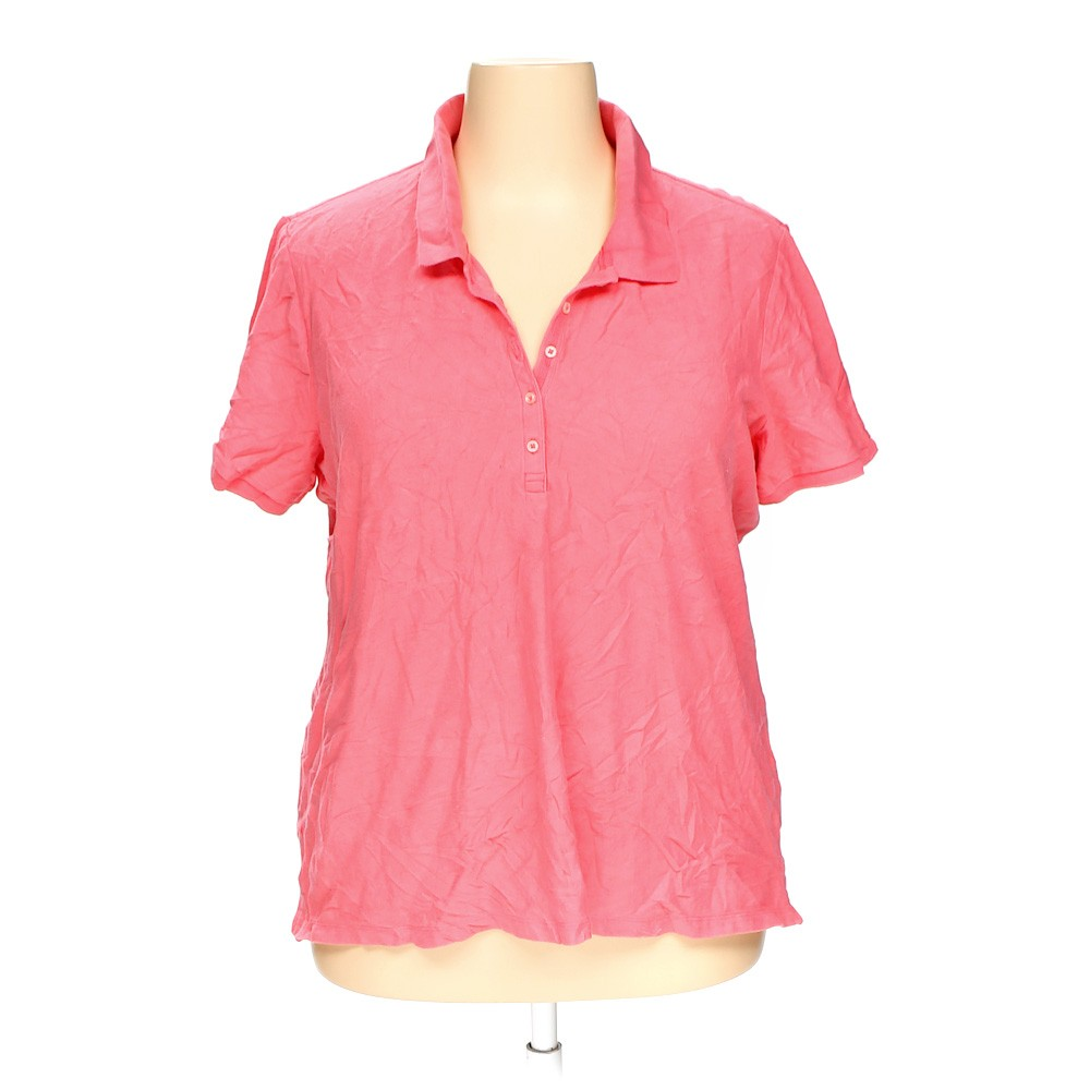 Pink Eddie Bauer Polo Shirt In Size 3x At Up To 95 Off