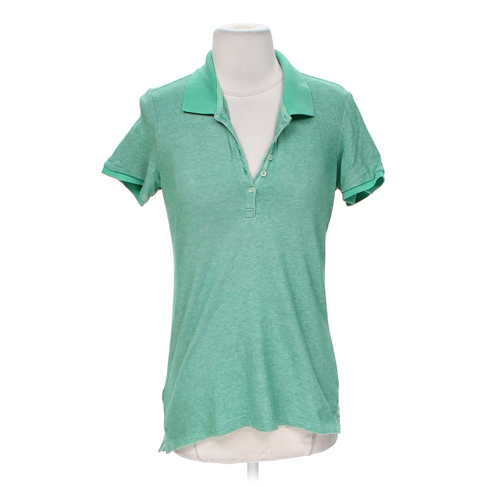 Turquoise Eddie Bauer Polo Shirt In Size S At Up To 95