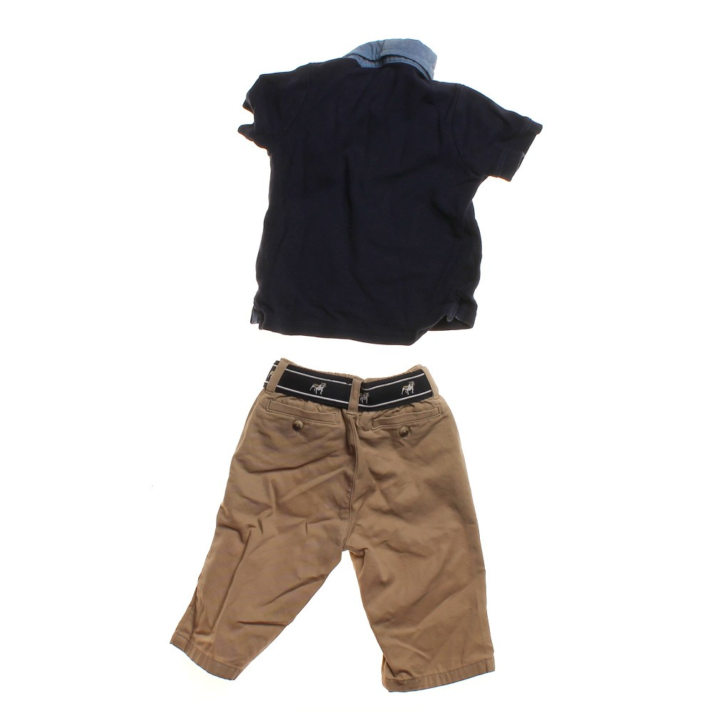 Janie And Jack Polo Shirt Khakis Set In Size 3 Mo At Up