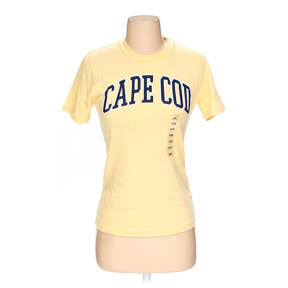 Cape Cod Apparel: Yellow Cuffy's Of Cape Cod Shirt In Size 8 At Up To 95