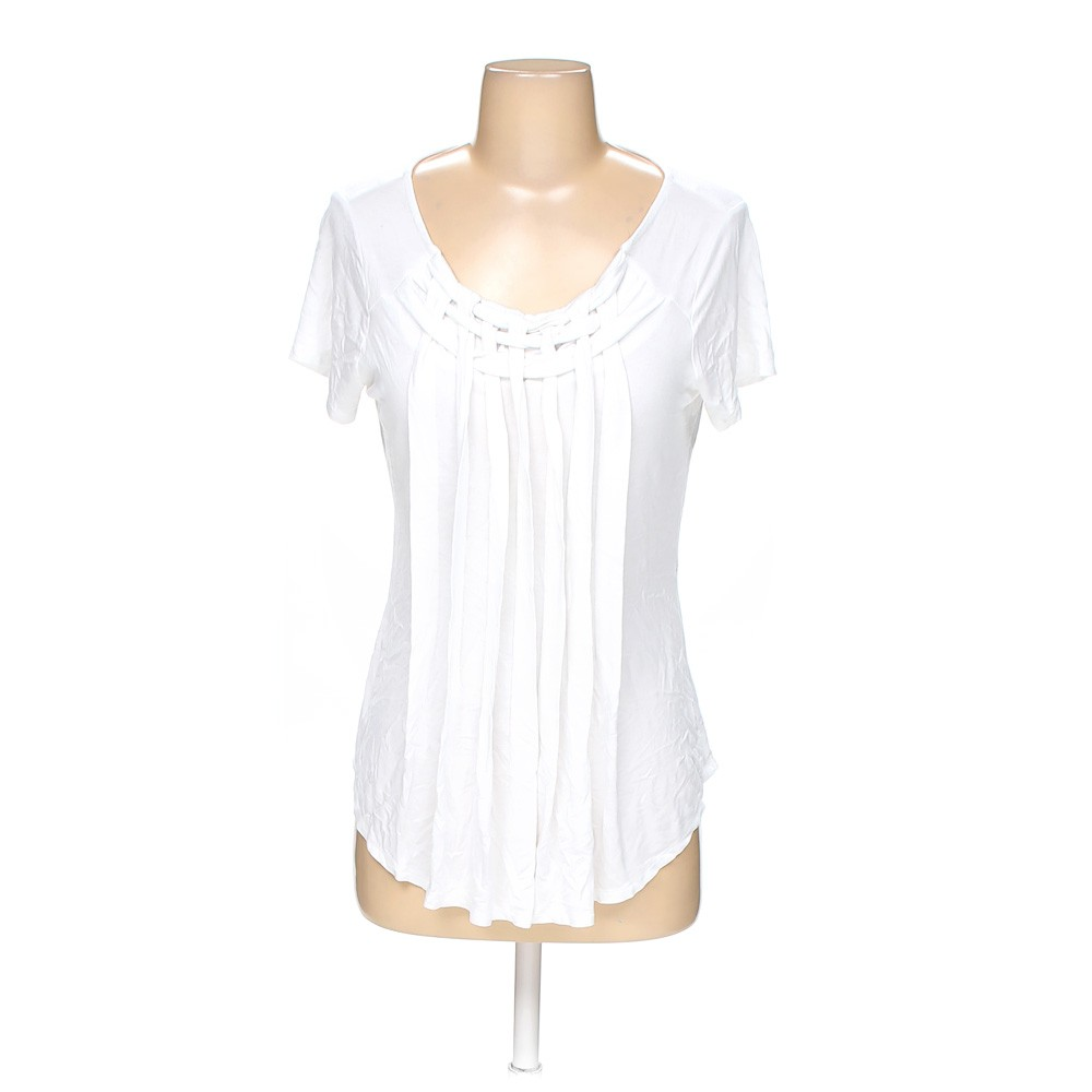 White elle shirt in size s at up to 95 off for How to hand wash white shirt