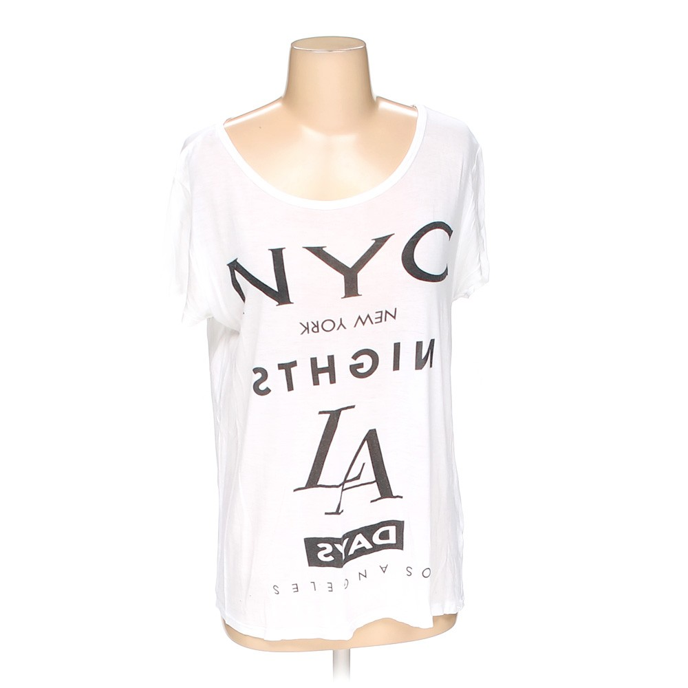 Forever 21 rayon shirt size s white for How to hand wash white shirt
