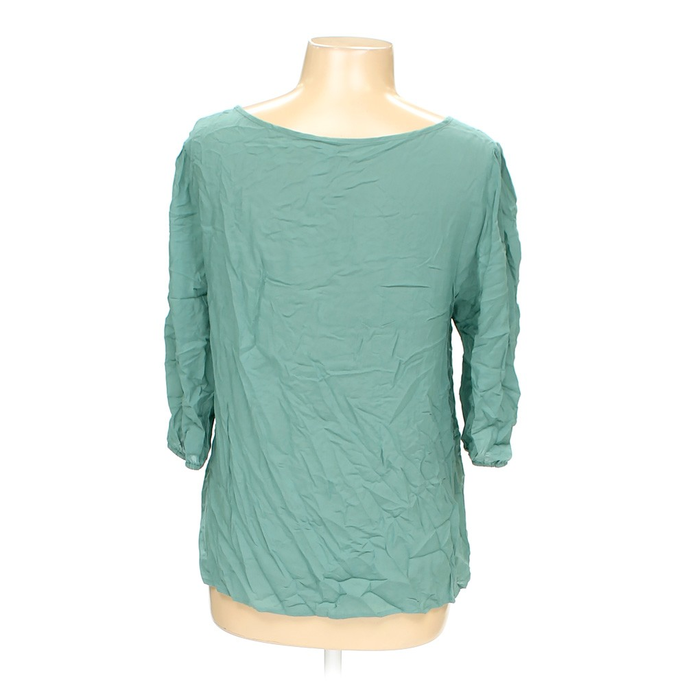 Turquoise love notes shirt in size l at up to 95 off for Love notes brand shirt
