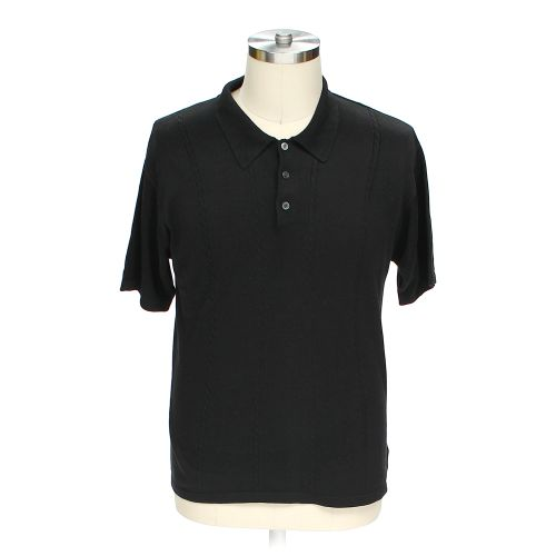 Black J Ferrar Short Sleeve Polo Shirt In Size L At Up To