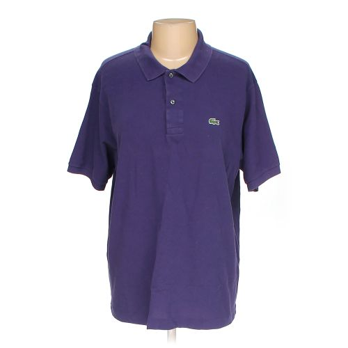 Purple Lacoste Short Sleeve Polo Shirt In Size Xxl At Up