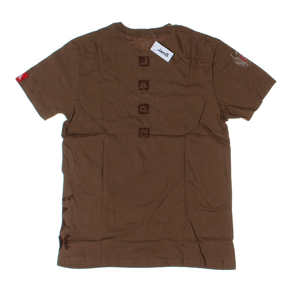 Brown jaco short sleeve t shirt in size xxl at up to 95 for Xxl tall graphic t shirts