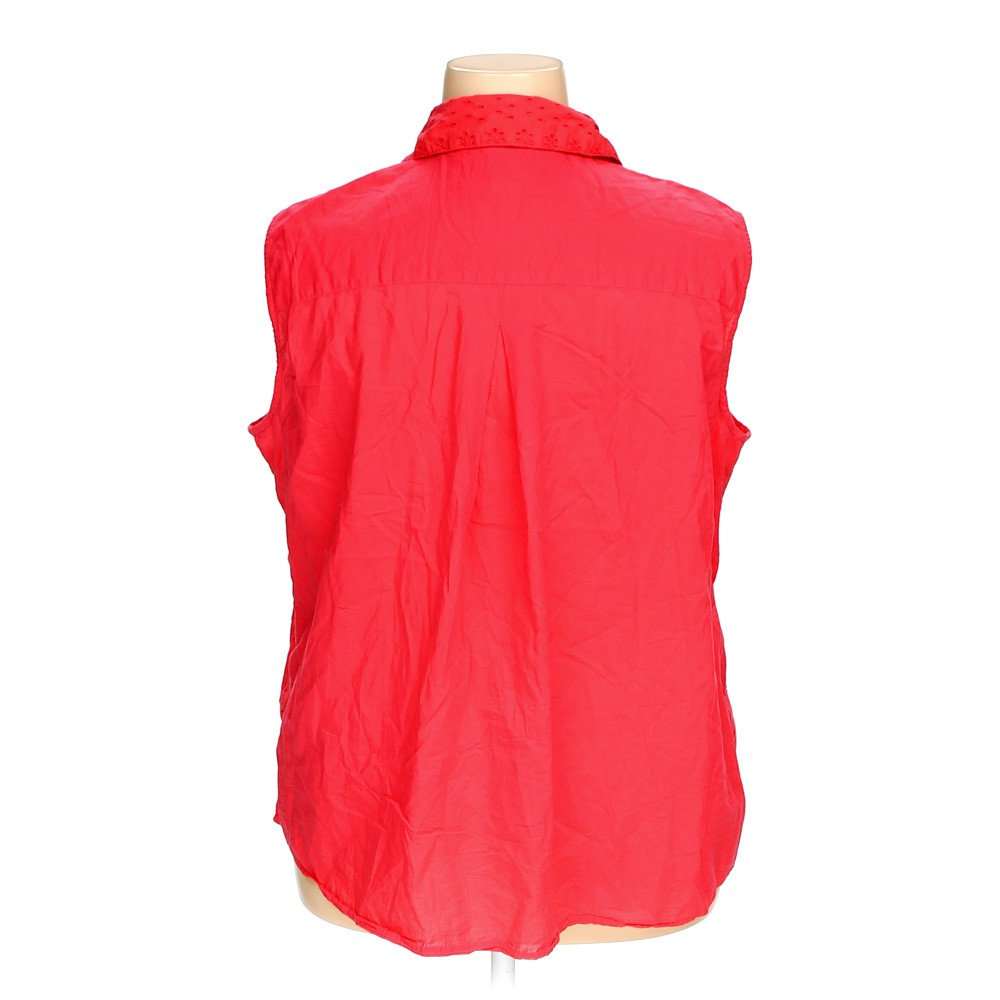 Red Faded Glory Sleeveless Top In Size 3x At Up To 95 Off