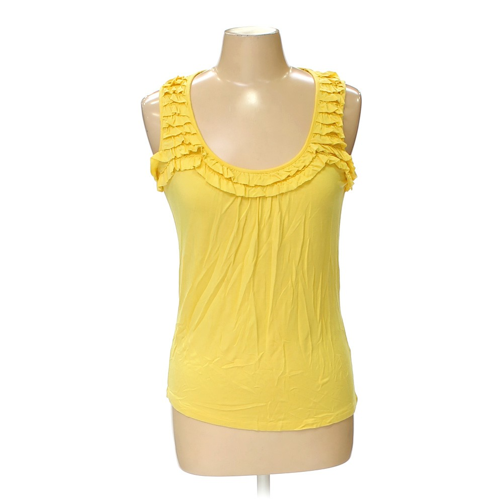 Yellow go fish clothing sleeveless top in size m at up to for Go fish clothing