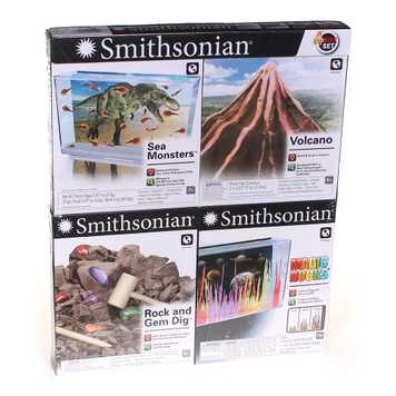 Smithsonian 4 Box Set Sea Monsters, Volcano, Rock And Gem Dig & Magic Rocks for Sale on Swap.com