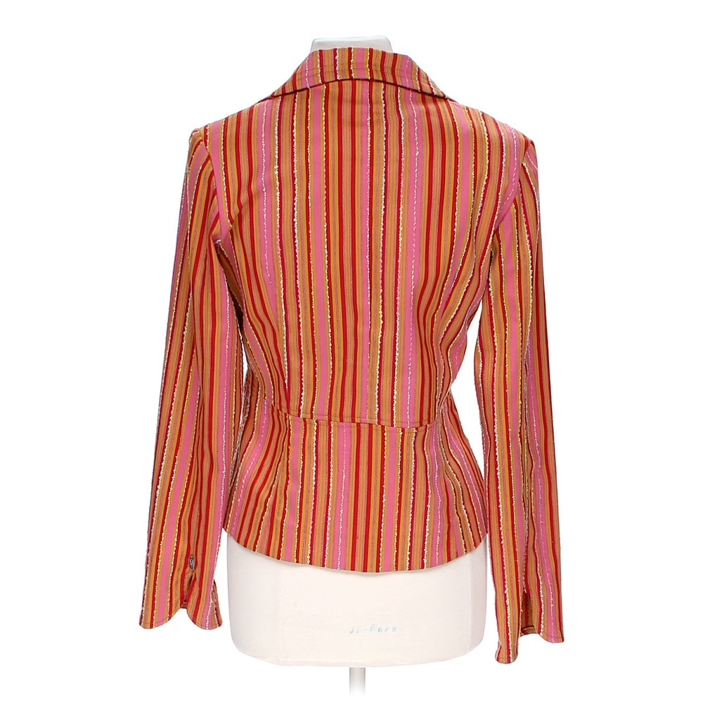 Red True Meaning Striped Blazer In Size 8 At Up To 95% Off