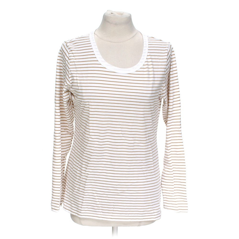 White Meg Lilly Striped Shirt In Size L At Up To 95 Off