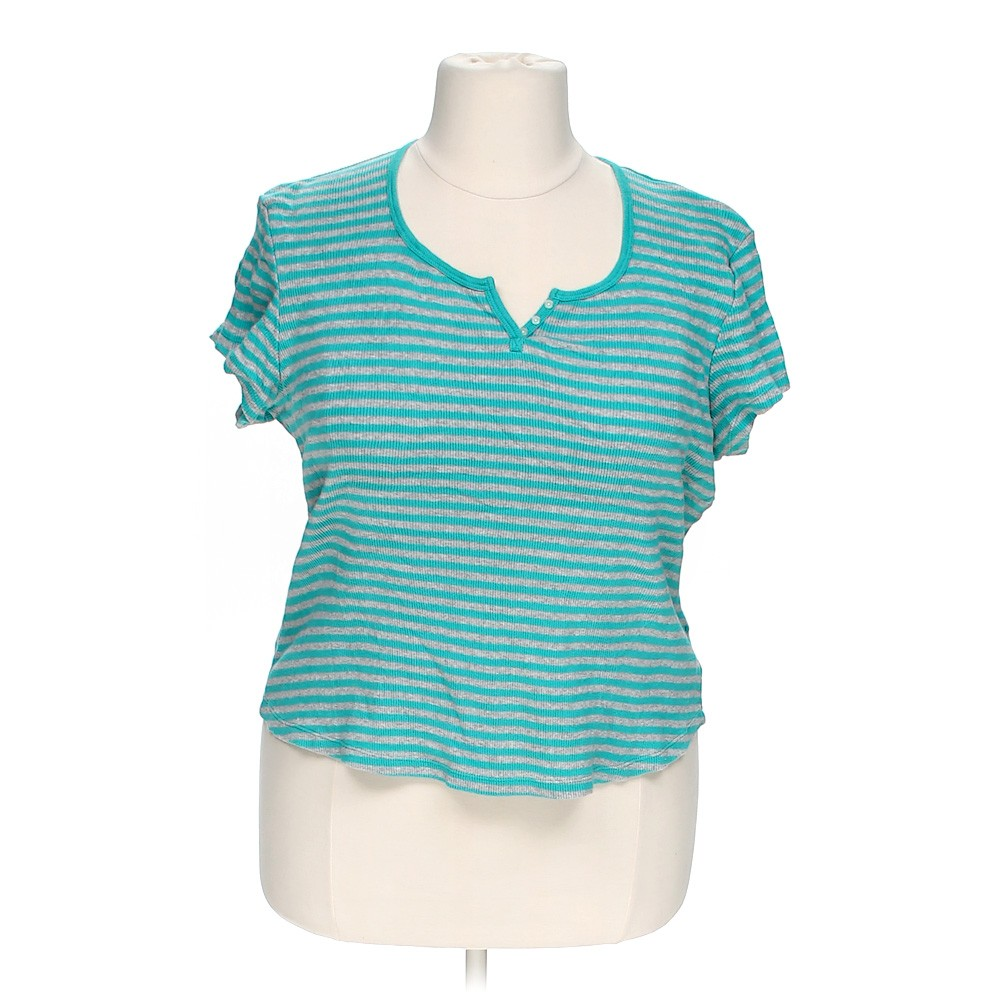 Faded Glory Striped T Shirt In Size 18 At Up To 95 Off
