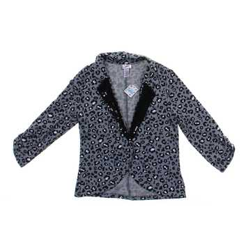 Stylish Animal Print Sequined Open Blazer Jacket for Sale on Swap.com