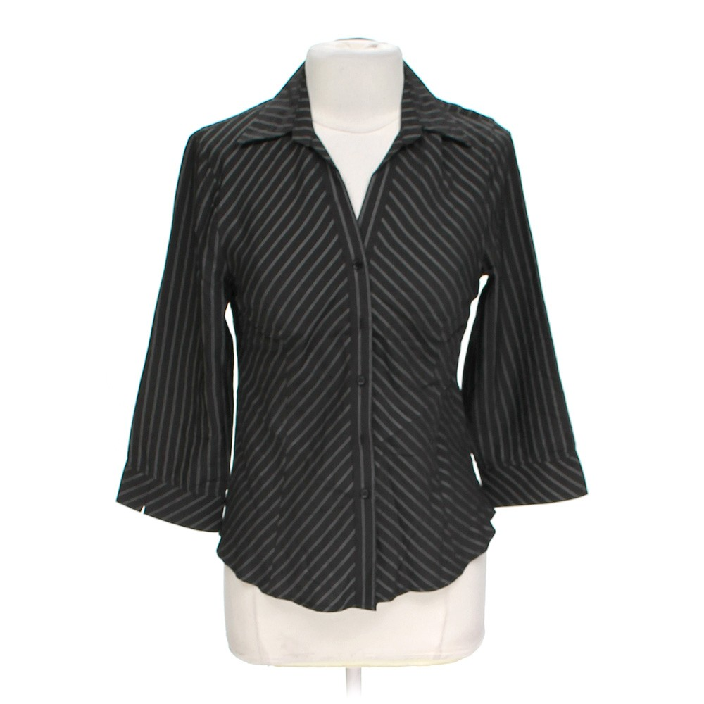 Editions polyester button up shirt size 14 black for Polyester button up shirt