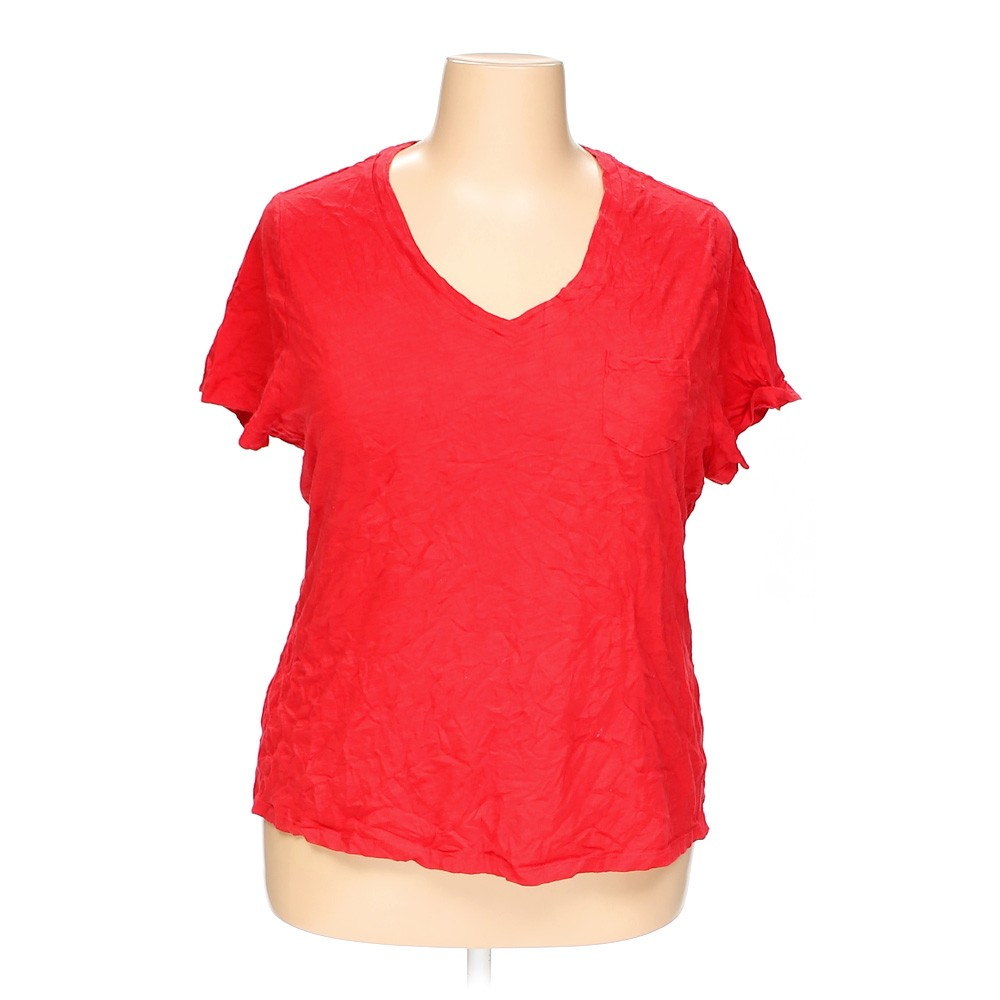 Red Faded Glory T Shirt In Size 18 At Up To 95 Off Swap Com
