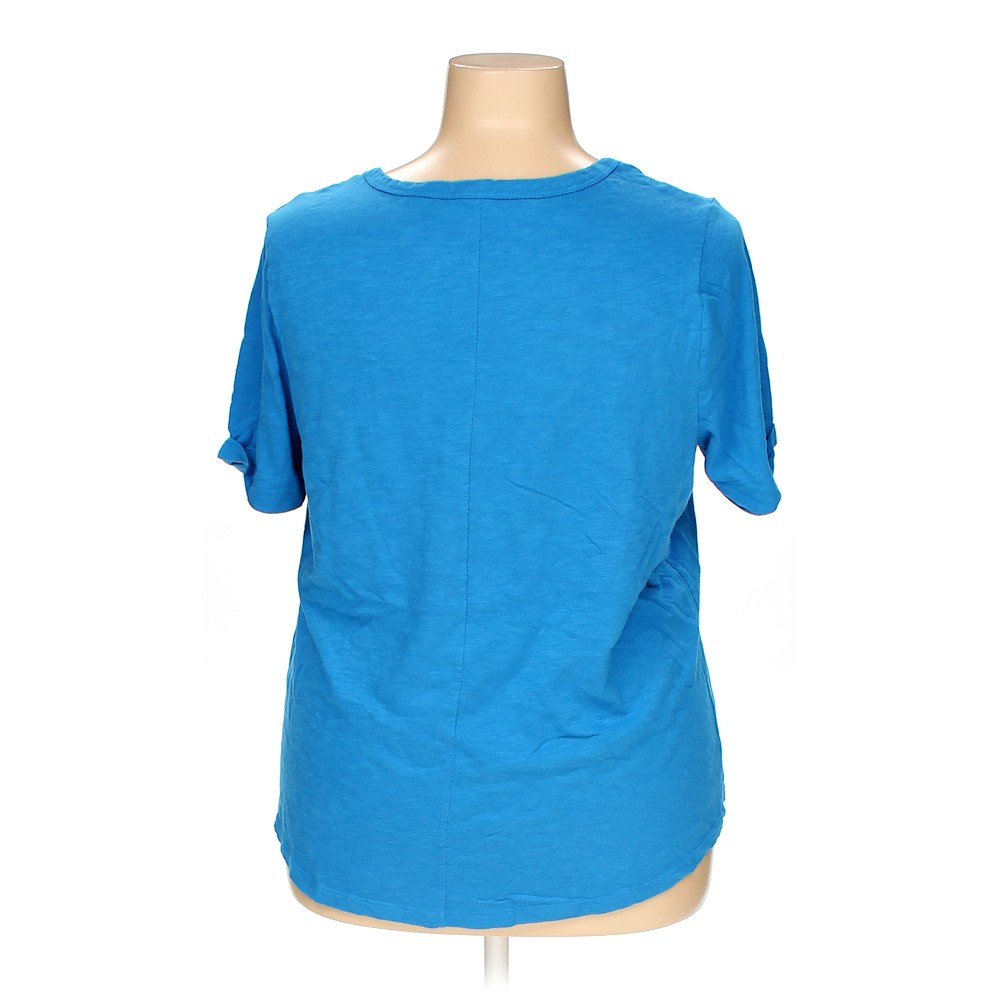 Light Blue Faded Glory T Shirt In Size 2x At Up To 95 Off