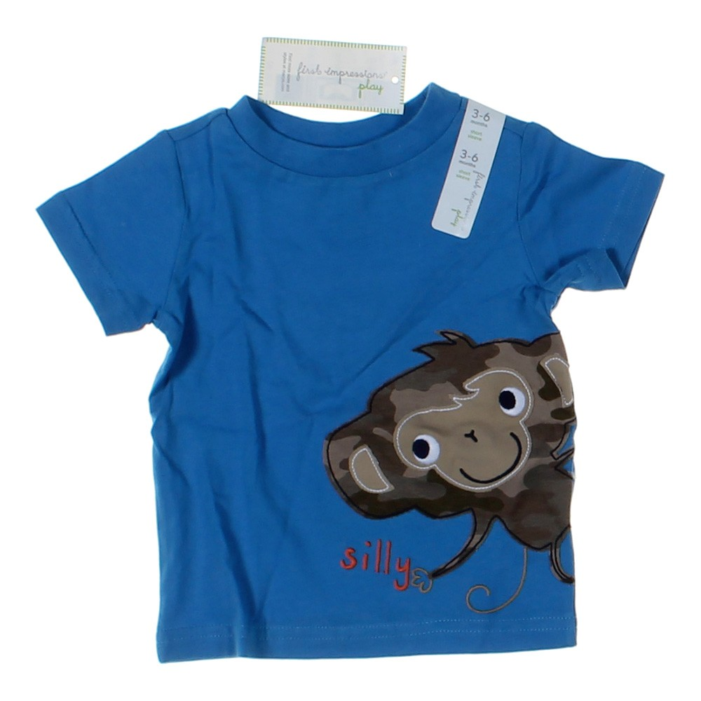 blue navy first impressions play t shirt in size 3 mo at up to 95 off. Black Bedroom Furniture Sets. Home Design Ideas