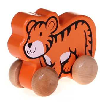Wooden Rolling Baby Tiger for Sale on Swap.com